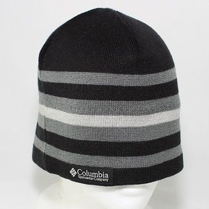 Columbia Winter Hat Black Gray One Size Fit Unisex
